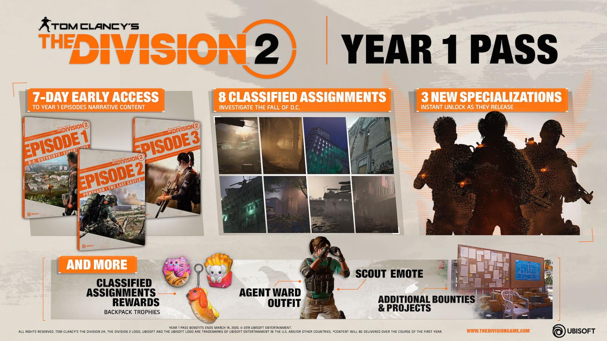 The Division 2 Free Post-Launch Content and Year One Details